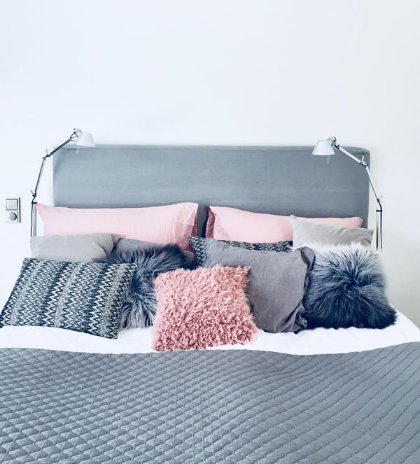 Makuhuoneen parivuoteen uudet tekstiilit