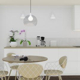 Keittiön 3D visualisointi kuva